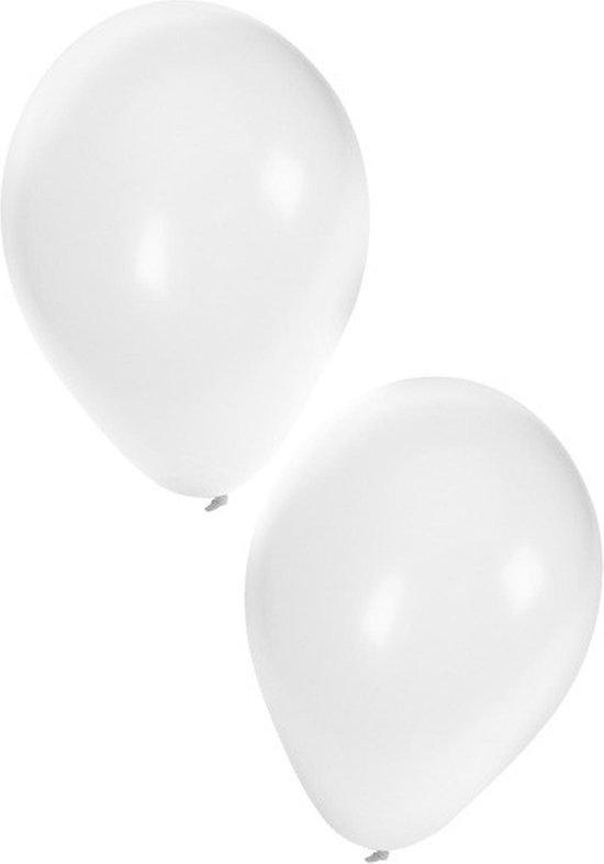 Witte ballonnen 50 stuks | Ballonnen wit voor lucht en helium