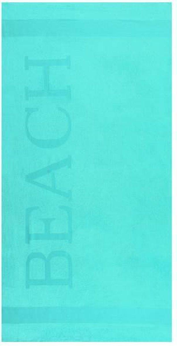 Lucca Beach Strandlaken  - 100x200 cm - Seagreen