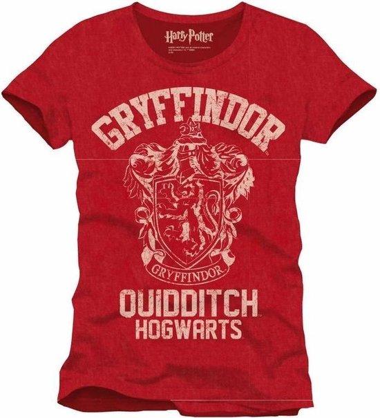 HARRY POTTER - T-Shirt Griffindor Qhidditch - Red (L)