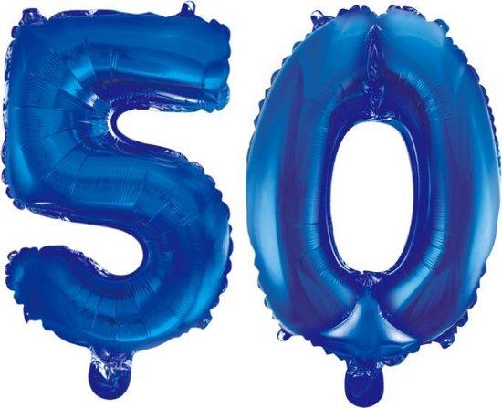 Folieballon 50 jaar blauw 86cm