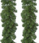 4x Kerstversiering dennen slinger 270 cm Imperial Pine - dennenslingers