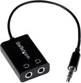 StarTech.com Slanke audio splitter voor mini-jack koptelefoon 3,5 mm audiosplitter zwart