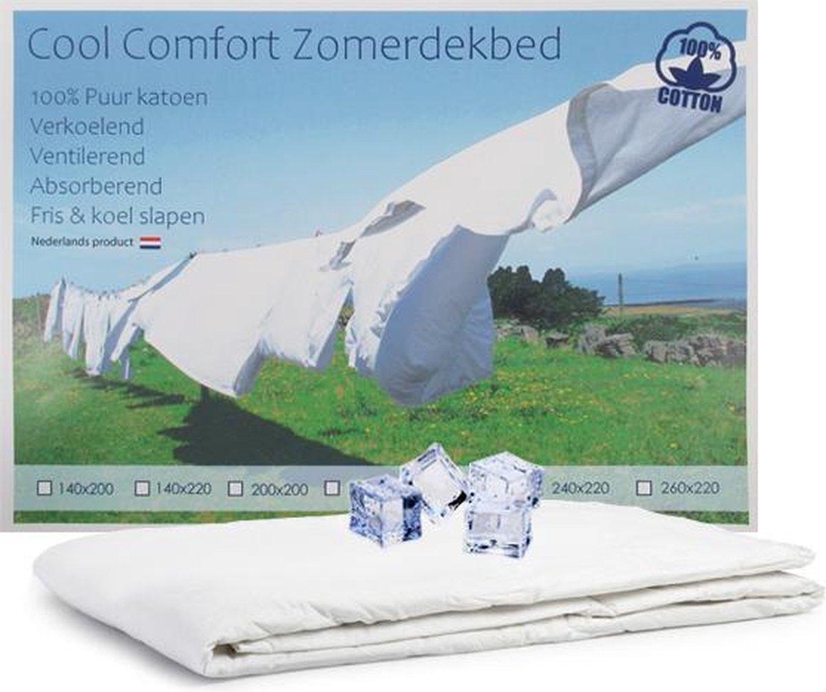 Cool Comfort Zomer Dekbed | 100% Puur Katoen | Verkoelend Zomerdekbed | Ventilerend & Absorberend |