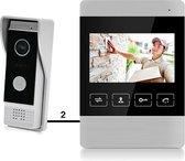 Bedrade deurbel met camera, gratis opslag beelden op SD-kaart - Doorsafe 7100