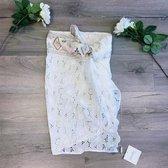 Ibiza pareo wit katoen embroidery geborduurd siersteentjes