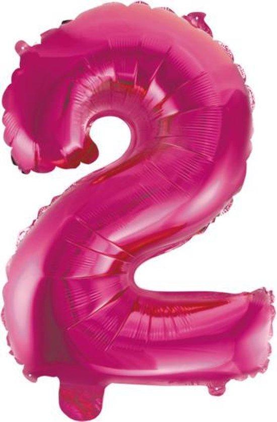 Folieballon 2 jaar roze 86cm