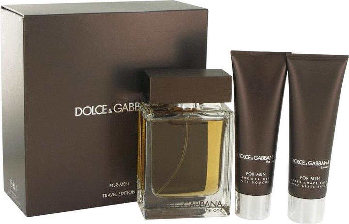 Dolce & Gabbana The One - Geschenkset - Eau de toilette 100 ml + Douchegel 50 ml + Aftershavebalsem 50 ml - Dolce & Gabbana