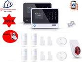 Home-Locking draadloos smart alarmsysteem wifi,gprs,sms set 10 AC-05