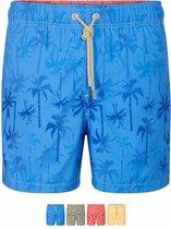 Ramatuelle - Heren - Zwemshort Palm Beach Rood  - Rood - XXL
