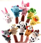 LOUZIR 10 vrolijke Vingerpoppetjes dieren