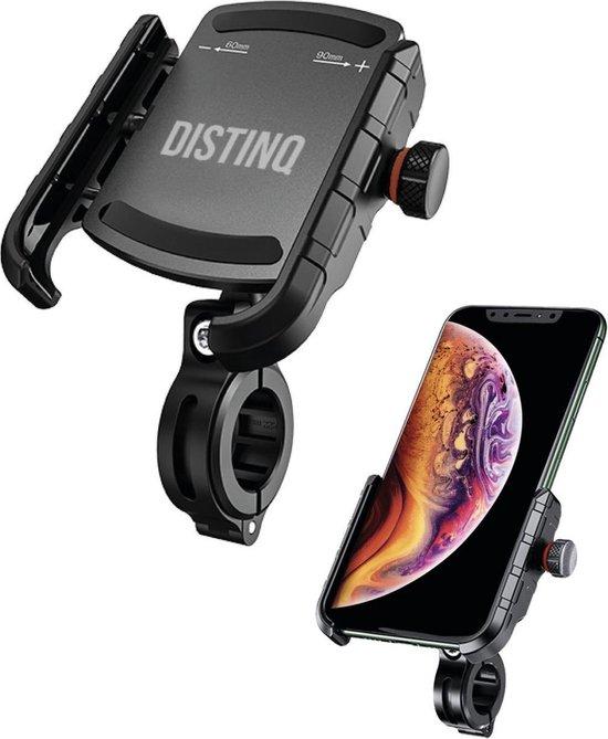 DistinQ Universele Telefoonhouder voor Fiets motor en scooter - Zwart