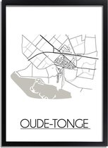 DesignClaud Oude-Tonge Plattegrond poster A4 + Fotolijst wit