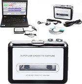 NicoBo Cassette Converter en Speler - Digitaliseren naar Computer/MP3/CD/USB - Casette Tape Omzetten