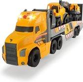 Dickie - Mack/Volvo Laadtruck met graafmachine en bulldozer