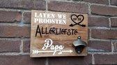 Bieropener PIJLEN houten tekst bord barnwood steigerhout vaderdag of cadeau idee PAPA