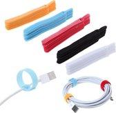 Klittenband Kabel Organizer |Cable Binders|Kabelbinder 20 stuks|Rood