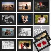 AWEMOZ® Fotolijsten – 12 stuks – Fotokader – Magnetische foto lijsten - Fotomaat 10 x 15 cm