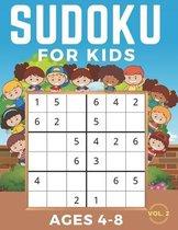 Sudoku For Kids Ages 4-8: Sudoku 6x6 Volume 2, Level