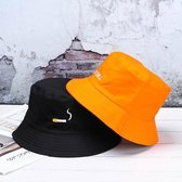 Bucket hat - vissershoedje - oranje - sigaret - no chill