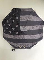 Y Not paraplu supermini manueel Falg USA black grey 55548