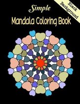 Simple Mandala Coloring Book Black Background