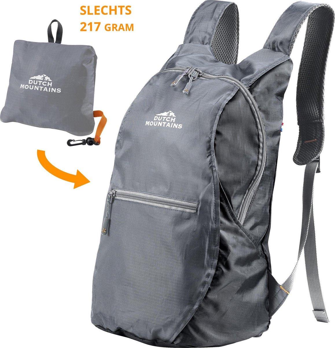 Dutch Mountains   Linde  Opvouwbare Backpack - Outdoor Rugzak - 15 Liter - Zwart