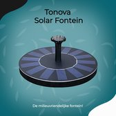 Solar Fontein op Zonne Energie - 4 opzetstukken -