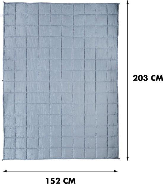 Kustaa Bamboe Verzwaringsdeken - Koel en Ademend materiaal - 152 x 203 cm - 7 KG - Weighted Blanket - Anti Stress - 152A