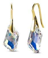 Yolora dames oorbellen met Swarovski kristallen - 18K Geelgoud vergulde oorhangers - YO-E090-YG-AB