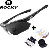 Fietsbril - Sportbrillen - Fietsbrillen - Professionele Gepolariseerde ROCKY  Fietsbril + 5 GRATIS Verwisselbare Lenzen + GRATIS  Optische Clip