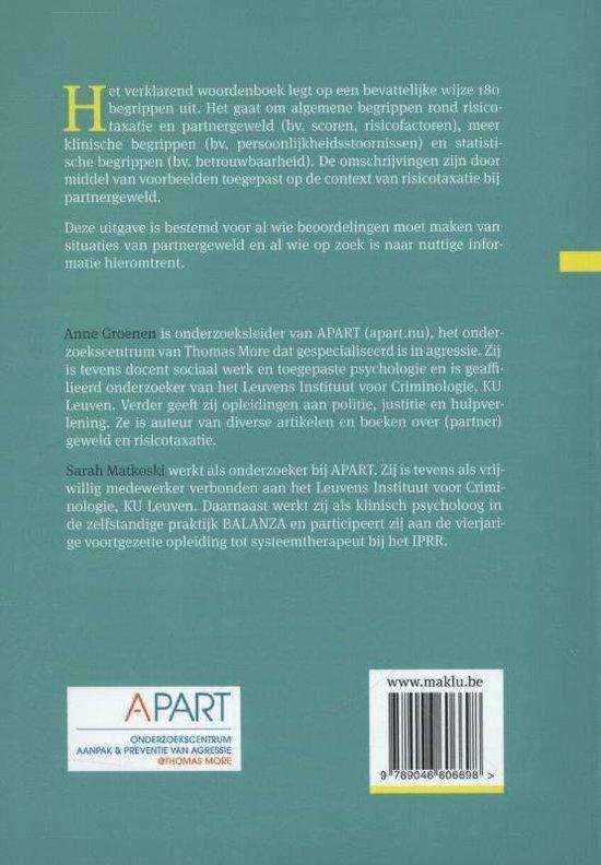 Risicotaxatie en partnergeweld - Anne Groenen  
