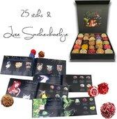 Chocoladna Moederdag chocolade bonbons - truffels -  in luxe cadeaudoos - 25 stuks - met extra flesje 'Shot in de Rose'