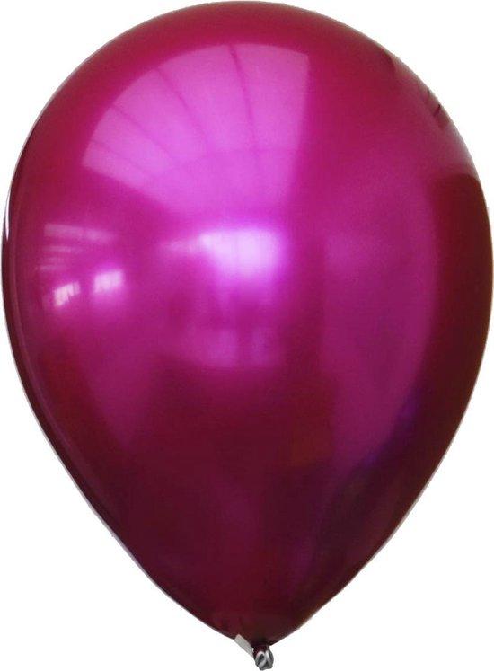 Ballon titanium fuchsia 28 centimeter, 12 stuks