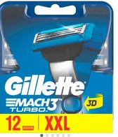 Gillette Mach 3 Turbo 12 stuks