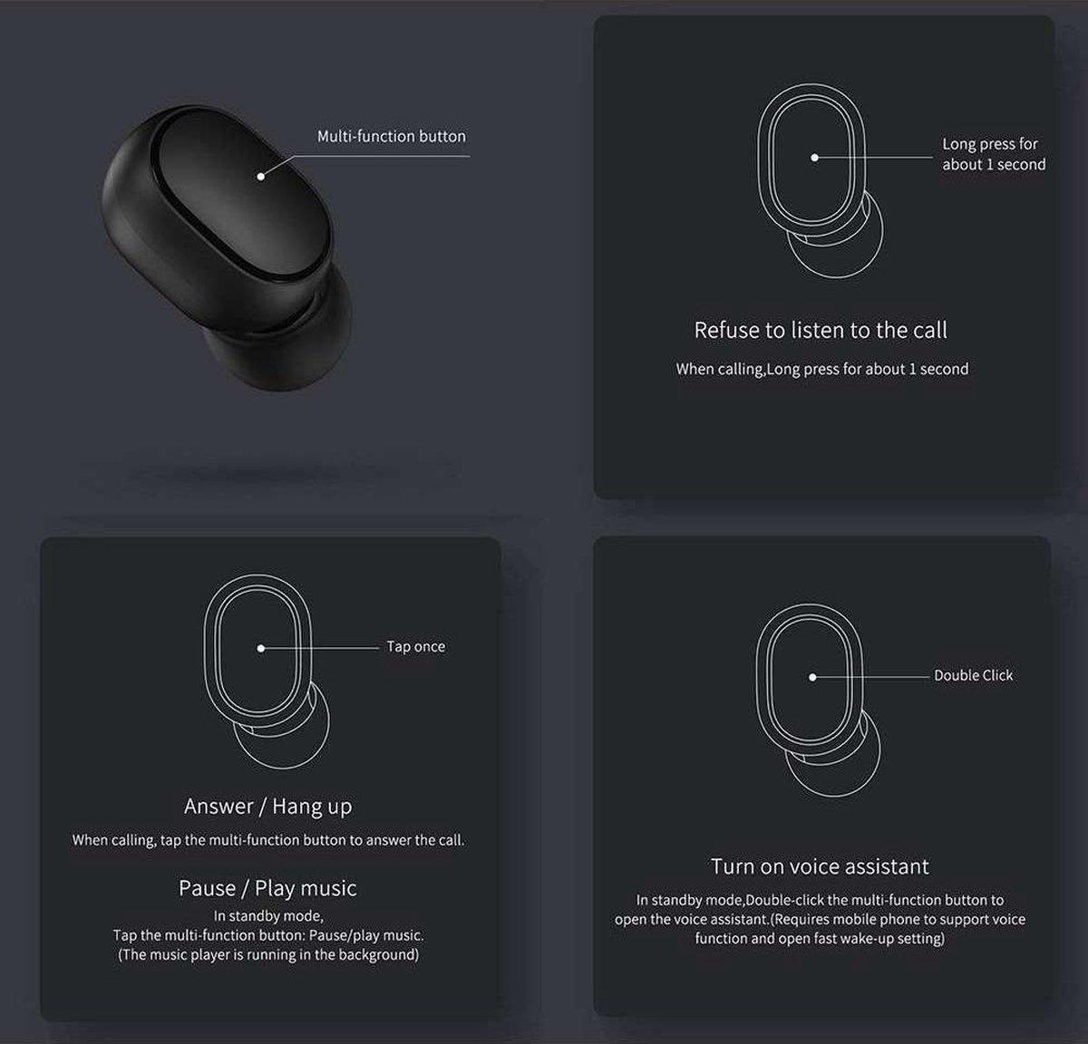 Xiaomi Mi AirDots True Wireless Earbuds Basic – Zwart