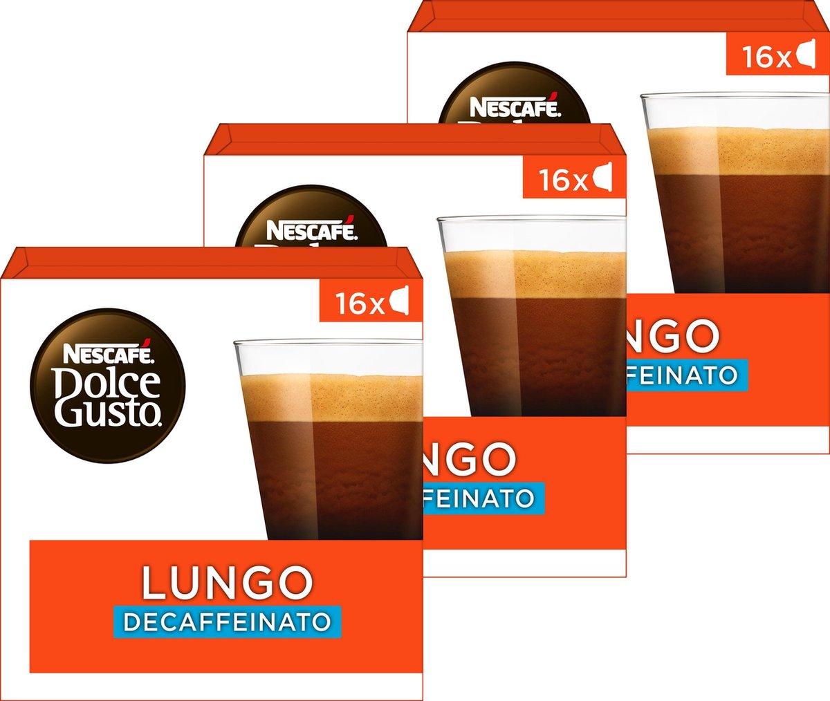 Nescafé Dolce Gusto capsules Lungo decafé - 48 koffiecups - geschikt voor 48 koppen koffie