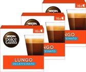 NESCAFÉ® Dolce Gusto® Lungo Décaf 3 doosjes à 16 capsules geschikt voor 48 kopjes