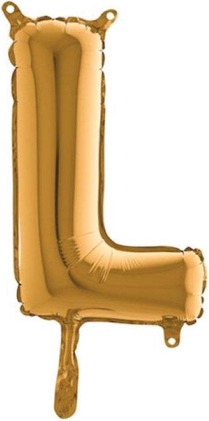 Grabo balloon - Folieballon - Letter L - Goud - 35cm