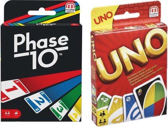 Afbeelding van het spel Kaartspelvoordeelset Phase 10 & Uno