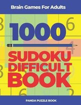 Brain Games For Adults -1000 Sudoku Difficult Book
