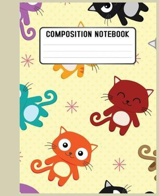 Composition Notebook: cat lovers or for those who just love a cute and artistic cover design book for notebook