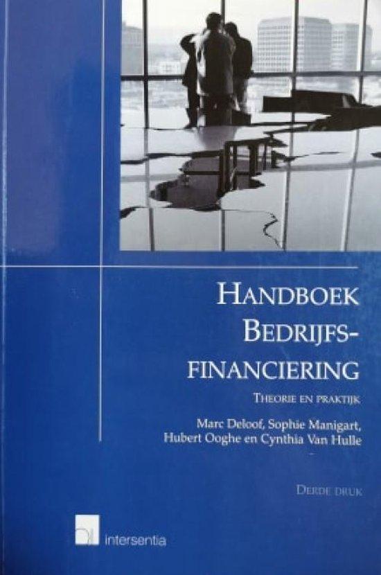 Handboek bedrijfsfinanciering (3e druk) - Marc Deloof |
