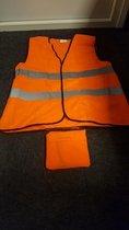 Fluorescerend Oranje Reflecterend Wegenbouw Veiligheidsvest - One size fits all | | Veiligheids Vest | Veiligheidshesje | Wegwerkersvest | Werkkleding| Veiligheid | Pech | BHV  | 5 Stuks aanbieding