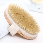 Simia™ Dry Brushing Huidborstel met Natuurlijke Haren - Huidverbetering - Anti cellulitis brush - Lichaamsborstel - Droogborstel