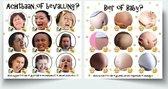 """Babyshower spel """"Bier of Baby"""" & """"Achtbaan of bevalling"""" - babyshower invulkaarten"""