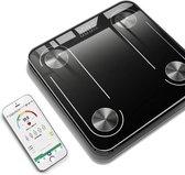Digitale Bluetooth Personen Weegschaal met Volledige Lichaamsanalyse - Lichaamsgewicht - Vetpercentage - Spiermassa - BMI -Smart App - 10 Verschillende Metingen - Modern Design