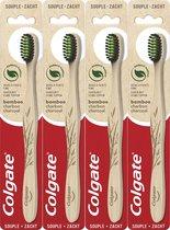 Colgate Bamboo Zachte Tandenborstel 4 stuks - Voordeelverpakking