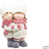 Beeld Kerstkinderen duo beeld 23cm