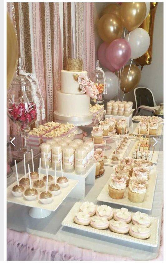 Ballonnen Set Goud -  Rose / Off-White - Creme | Effen - Metallic | 18 stuks | Baby Shower - Kraamfeest - Verjaardag - Geboorte - Fotoshoot - Wedding - Marriage - Birthday - Party - Feest - Feestje - Huwelijk - Jubileum - Event