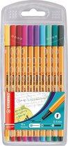 STABILO point 88 - Fineliner 0,4 mm - Etui Met 10 Fashion Colors